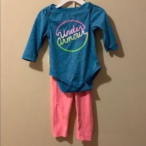 Girls 6/9 month outfit long sleeve top & leggings